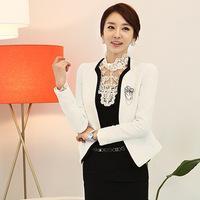2014 Autumn Women's Professional Dress Set Fashion Ol White Collar Blazer Fish Scale Skirt