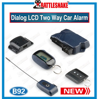 Factory Wholesales New color box Two Way  Car Alarm System Satrline B92 Alarm Car  With Remote Engine Starter +Russian Version