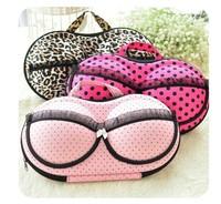 3 colors Hearts . underwear storage box covered bra finishing box panties socks travel portable storage box & bra bag #H0215