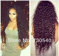 AFRO curly,4*4 SILK TOP full lace wigs glueless130-150%density Brazilian hair,along the Perimeter to give a natural hairline(490