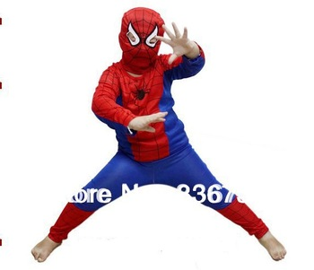 2014  princess skirts Hot Selling,Party Supplies Size S/M/L Spiderman Halloween Costume For Children Sets,Free Shipping,LY219