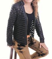 Short leather coat autumn outwear fall 2013 women designer fashion supernova sale jaqueta lace jacket size s to XXL Free ship