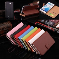 1pcs Luxury Flip Case for Samsung Galaxy Note 2 II Wallet Genuine Leather Case for N7100 With Stand Function + Card Holder