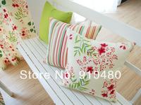 100% cotton cushion cover ikea style pillow throw pillow decorative  print stripe cushion 45*45cm free shipping