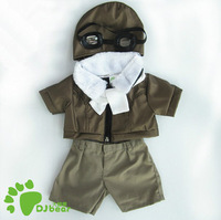 Kids' Plush Toy Accessories 15 Inches Teddy Bear/ Monchhichi Dolls/ Duffy Clothes Pilot Suit With White Scarf & Aviator Glasses