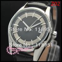 2014Swiss watch successful man must be equipped! Calendar belt business men automatic mechanical watches sapphire O227