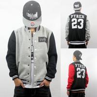 Brand 2014 New Pyrex 23 Baseball Jacket Hoody Sweatshirt Uniform Black/Gray/Blue S-5XL Lover Mens Sport Outerdoor Outerwear Man