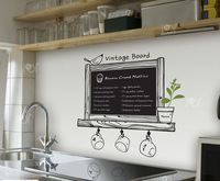 2013 New Arrive Chalkboard Decal Blackboard Removable waterproof Vinyl Wall Sticker Kitchen Chalk Board