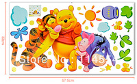 Good Quality New Fashion Colorized Large Size DIY Animals Bear Home Decor Children Wall Sticker #005 6351
