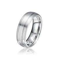 7MM Comfort Fit Men Jewelry,Tungsten Carbide Wedding Bands,Grooved/Satin/Brushed Ring, New Size 9-12 & Half,Free Shipping TG003R