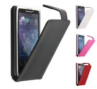 Free shipping Fashion Top quality flip100% Real cowhide leather top and bottom cove case for Lenovo S890