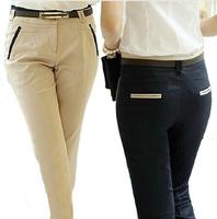 XS- XXL plus size casual OL pants New summer autumn trousers  women harem pants women slim formal ladies trousers with belt