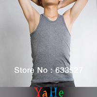 Cheap Men's Top\Tank Wholesale Men Tank Top Men Undershirt Sheer Shirt Sexy Gym Tank Tops Mens Singlet Weight Vest YAHE1NMC3002C