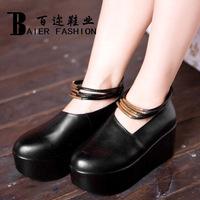 2013 women's fashion genuine leather shoes platform female high-heeled shoes leather