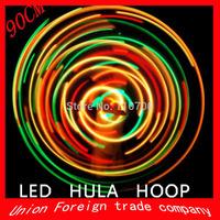 CPAM Free Shipping 28 LED Lights Hula Hoop  Performance & Sports Equipment Weight loss Hula Hoop  (90CM)