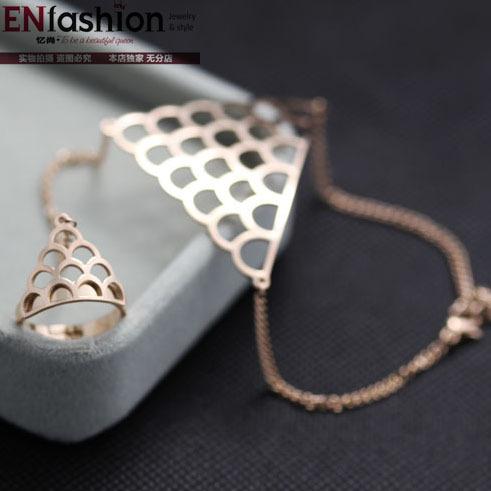 Fashion fish scale bracelet slave bracelet 18K rose gold bracelets for women stainless steel bracelet jewelry wholesale(China (Mainland))