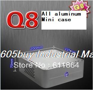 American q8 mini-itx itx hd host small computer case htpc aluminum computer case computer case fan