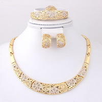 Free Shipping, Fashion African Wedding Bridal Necklace Sets Vintage 18K Gold Plated  Women Party Costume Jewelry Sets