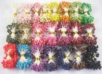 Free shipping wholesale mix color Multicolor DIY Glass flower stamen cake decoration and DIY pistil stamen(1600pcs/Lot ) 002008