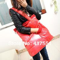 new 2014 hot sale,women handbag,fashion Space cotton bag down bag,women messenger bag,red and black color,free shipping