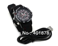 4GB 8GB mini camera dvr Waterproof Fashion Watch Digital Video Recorder Hidden Camera HD-DV 720*480 Watch 50pc/lot