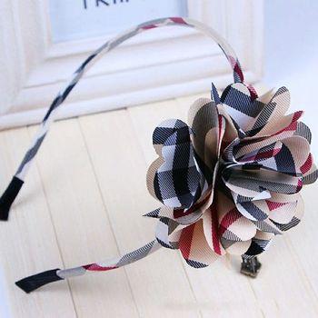 2pcs/lot Cheap Price Fashion children exquisite headwears girls plaid headwear accessories kids hairband