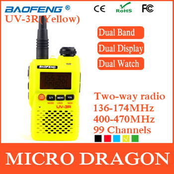 New BaoFeng UV-3R Professional Dual Band Transceiver 99 Channels Two Way Radio Walkie Talkie Transmitter cb Radio Station