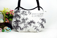 Chinese style women hand bag totes  China culture beauty fashion leisure totes handpainted lady canvas bag - S-01