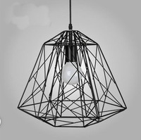 Hot sales Entranceway stair american style all-match black tieyi trapezoidal birdcage pendant light free shipping