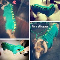 Fashion dinosaur hoodie pet dog costume clothes XXL coat sweater for medium large dog Free Shipping