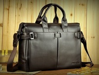 New arrival! Santagolf Top genuine leather man business handbag Designer Brand Shoulder Messenger Cross Body Bags Black/Brown