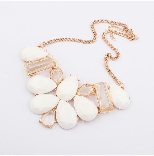 Fashion waterdrop choker chunky collar statement Necklace women jewelry Necklaces & pendants Free Shipping XN-00368(China (Mainland))