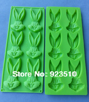 silicone cake mold  6-rabbit head shape cookie cutter / cake / chocolate / cupcake mold 24cm*10cm*1.3CM