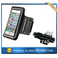 5pcs/lot  Colorful mobile Phone Arm Band Case holder cover wallet bags For iphone5