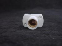 Free shipping, White LED E14 Round Plastic Light Bulb Lamp Socket Holder
