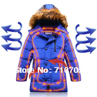 Free shipping Children's Clothing Outerwear Coats Boys Down Cold-resistant Insulation Long section