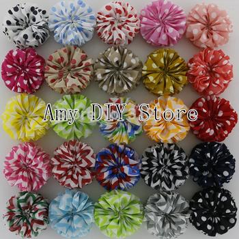 Free Shipping!60pcs/lot 2014 NEW Unfinished Chevron Ballerina Flowers,Chiffon Flower For Headband 26 COLORS,HH0321