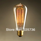 "110V/220V St64 style bulb light Brand New Filament Edison Bulb 60w 220V Length 14cm/5.5"" Warm Healthy(China (Mainland))"