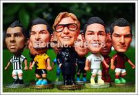 "5PCS/LOT FOOTBALL 2.5"" Figurine (Mixed Order) Doll Toy Figure 2013-2014 Season"
