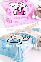 baby blankets soft coral fleece cartoon children blanket Bedclothes Hello Kitty 70 X100cm/150 X200cm boys girls bedroom blankets