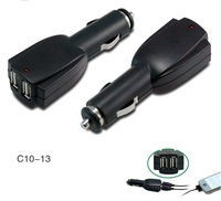 Two usb car charger with 5V 1A