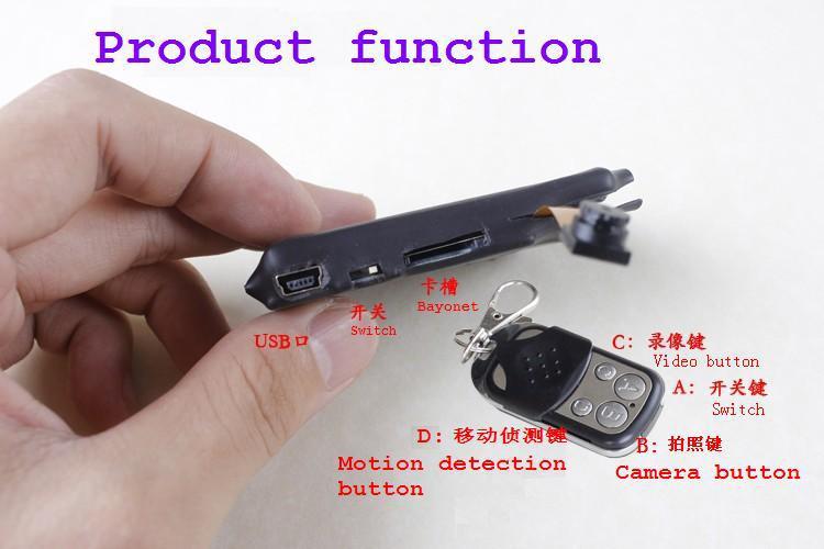 HD mini wireless remote control mini camera hidden mini camera digital motion detection 7670Lens 500mA battery 16g memory card(China (Mainland))