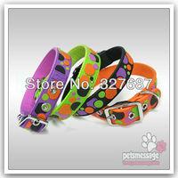 Dog Pet Collar  Free Shipping Large Dog Product Golden Retriever Collar PVC Nylon Pet Product Pink Purple Blue Black