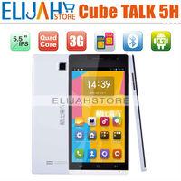 5.5'' Cube A5300 Talk 5H Android 4.2 1G/4G 1.2GHz MTK6589 Quad Core 3G mobile phone Dual Camera Dual SIM  Bluetooth GPS FM