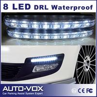 2pcs/set Freeshipping car Head DRL Light Fog Lamp 8 LED Daytime Running light Universal Auto Light waterproof