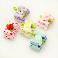 dreambows 23013  Handmade Accessories Dog Grooming Mini Candy Colors Ribbon Hair Bow  Pet Wholesale Supplies.