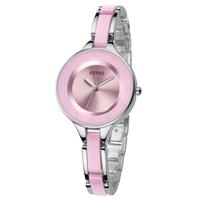 Gorgeous! KIMIO Brand Ladies Quartz Watch Dress Wristwatch for Women Female Ceramic Bracelet Watche Hours 2013 New K489M