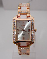 Hot Sale High Quality Fashion Rose Gold Tone Crystal Rhinestone Watch Women Ladies Dress Wrist Watch TW021