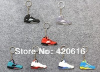7pcs/lot  Air Jordan V AJ 5 Generation Men's Sneaker Shoes Silicon Rubber Keychain Jewelry Novelty items Wholesale Free Shipping