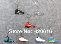 7pcs/lot  Air Jordan V AJ 5 Generation Men's Sneaker Shoes Silicon Rubber Keychain trinket Novelty items 2014 New Free Shipping